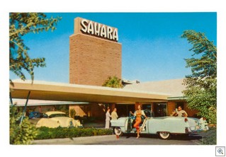 The Sahara Hotel in Las Vegas - Circa 1950