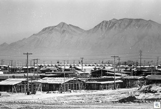 mid century modern neighborhood being constructed in Las Vegas C-1962