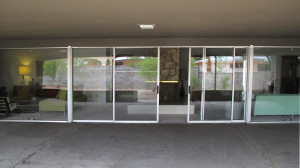 One of the great features is the wall of glass running the entire length of the living room and family room