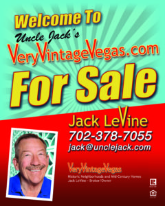 Uncle Jack's Very Vintage Vegas